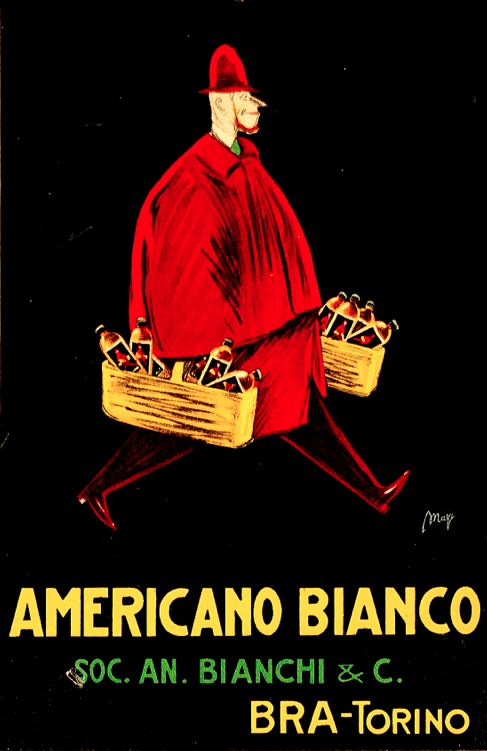Poster by Maga (Giuseppe Magagnoli), ca 1925, Americano Bianco. (I)