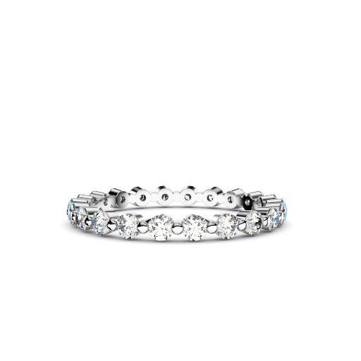 Women's Diamond Bubble 18ct White Gold Ring – 2mm