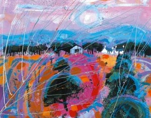 In the Pink by the contemporary artist Deborah Phillips available to buy online at The Leith Gallery, Edinburgh, Scotland, UK
