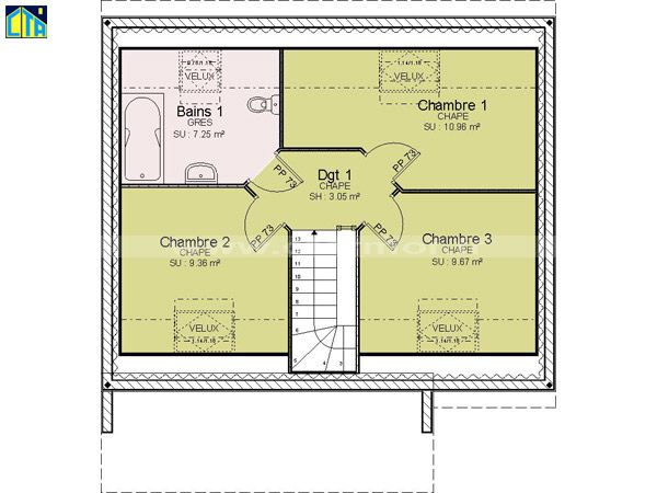Plan Maison A Etage 80m2 En 2020 Plan Maison Maison A Etage Plan Maison Etage