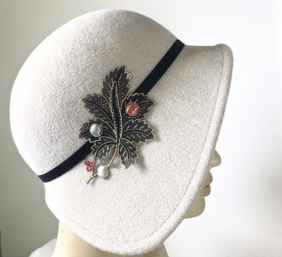 Miss Fisher Cloche Hat Women's Fur Felt Hat by MakowskyMillinery