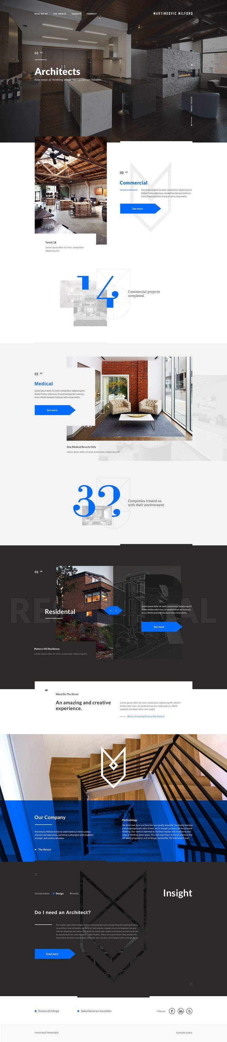 I LOVE the typography for this webpage! Especially those numbers!! Those are some super sexy numbers, don't you think?? | Martinkovic homepage