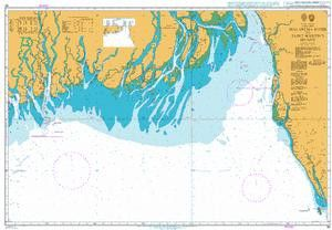 British Admiralty Nautical Chart 90: Malancha River to Saint Martin's Island