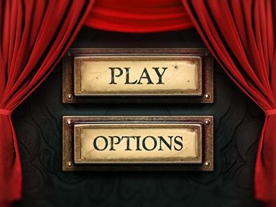 Game menu. Play button and description down bellow