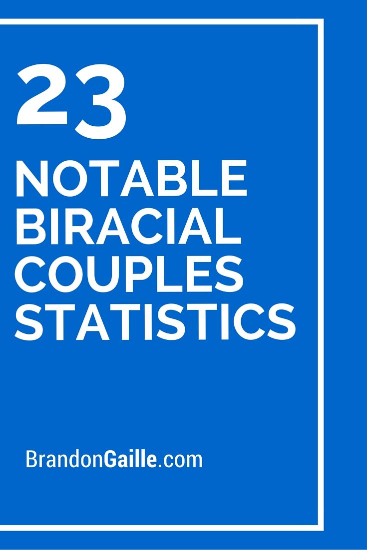 23 Notable Biracial Couples Statistics