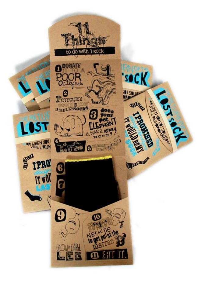 sock package.: Sketch Design, Packaging Socks, Creative Packaging Design, Illustrations Packaging, Students Work, Socks Packaging, Lost Socks, Packaging Creative, Bruno Zalum