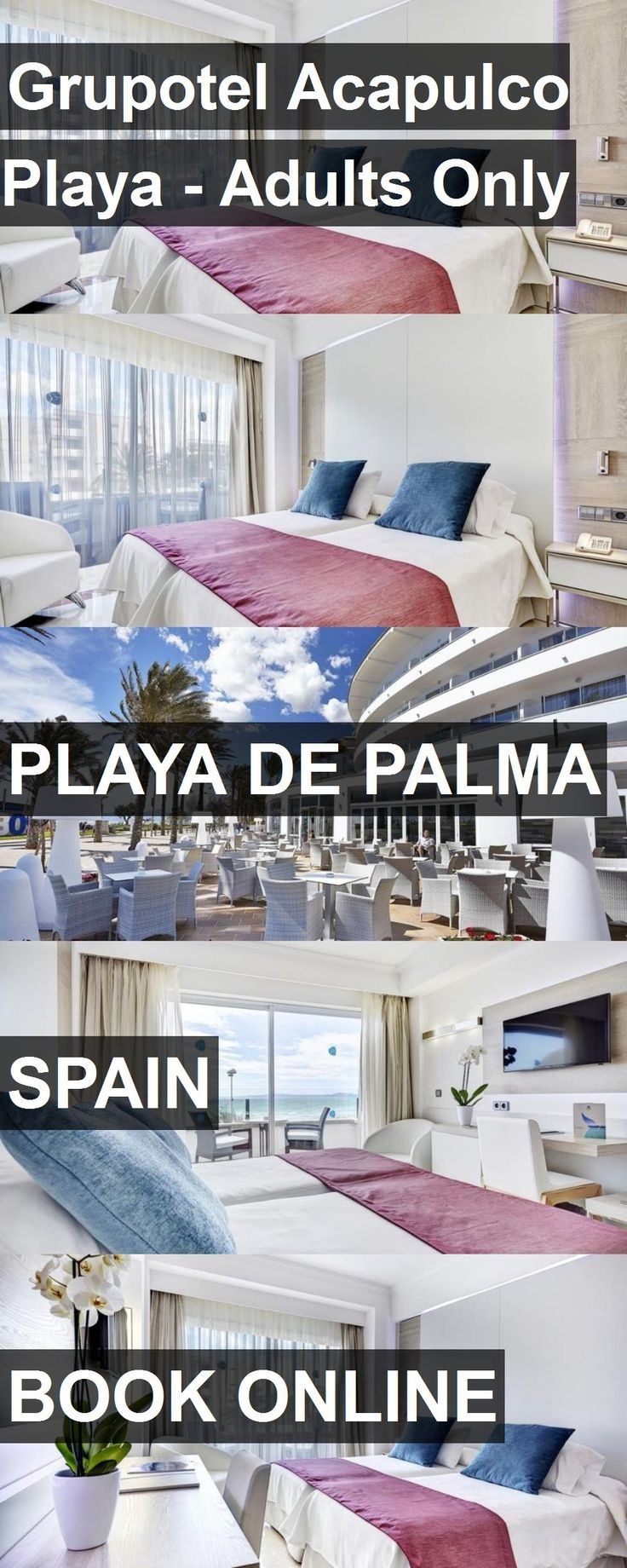 Hotel Grupotel Acapulco Playa - Adults Only in Playa de Palma, Spain. For more information, photos, reviews and best prices please follow the link. #Spain #PlayadePalma #travel #vacation #hotel