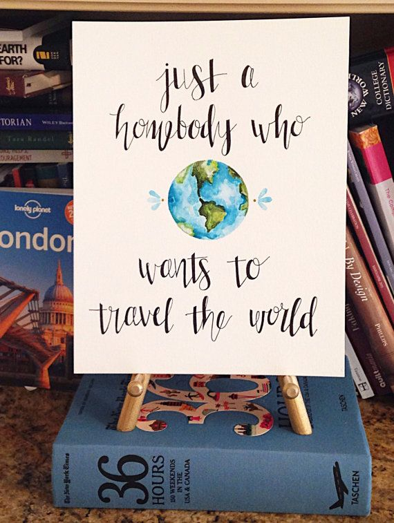 A homebody who wants to travel the world/Original Artwork