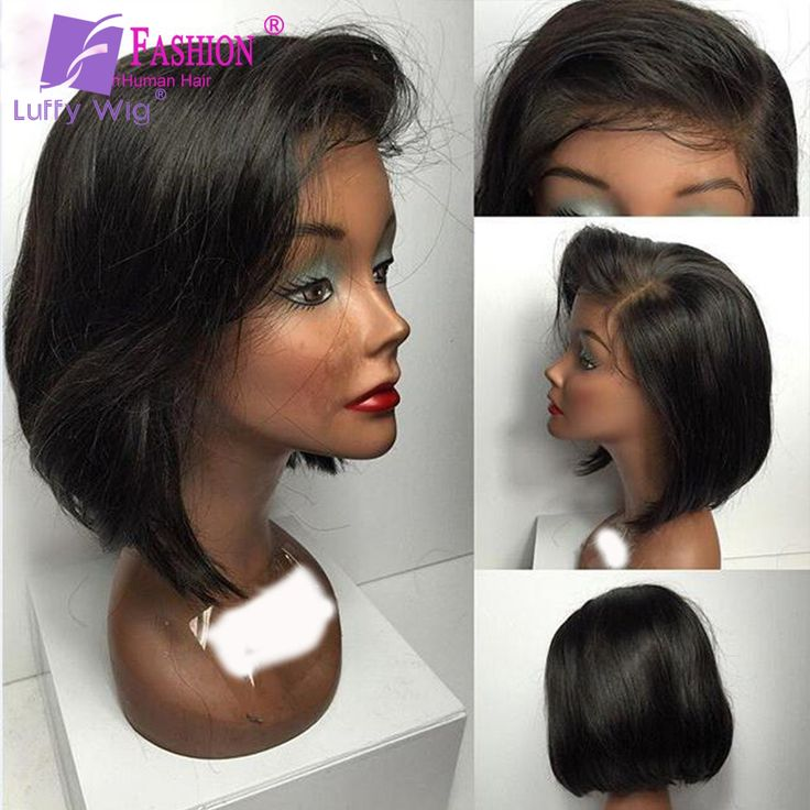 Virgin Brazilian Glueless Short Lace Front Human Hair Bob Wig/Full Lace Human Hair Bob Wigs For Black Women With Side Part