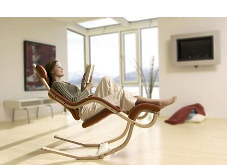 Scandinavian Design: Recliner from Swedish furniture designer Varier