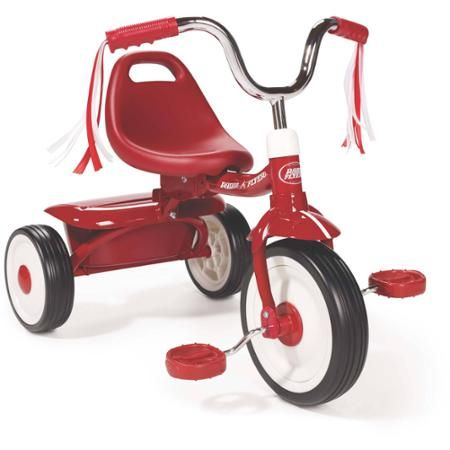 Radio Flyer Ready-To-Ride Folding Tricycle, Red - Walmart.com