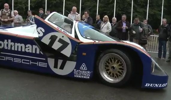 Video: Porsche 962 at 2012 Goodwood Festival of Speed. Get touch up paint for your Porsche: http://www.chipex.co.uk/Porsche-touch-up-paint/