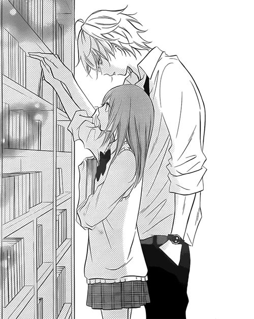 Anime couple tall and short
