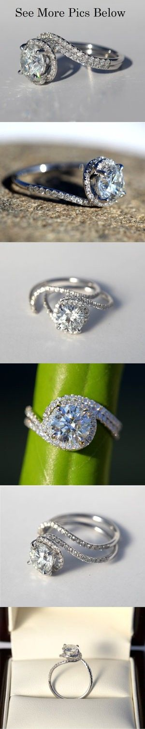 Halo Swirl Engagement Ring - Click image to find more Hair & Beauty Pinterest pins..gimme!!!!!!