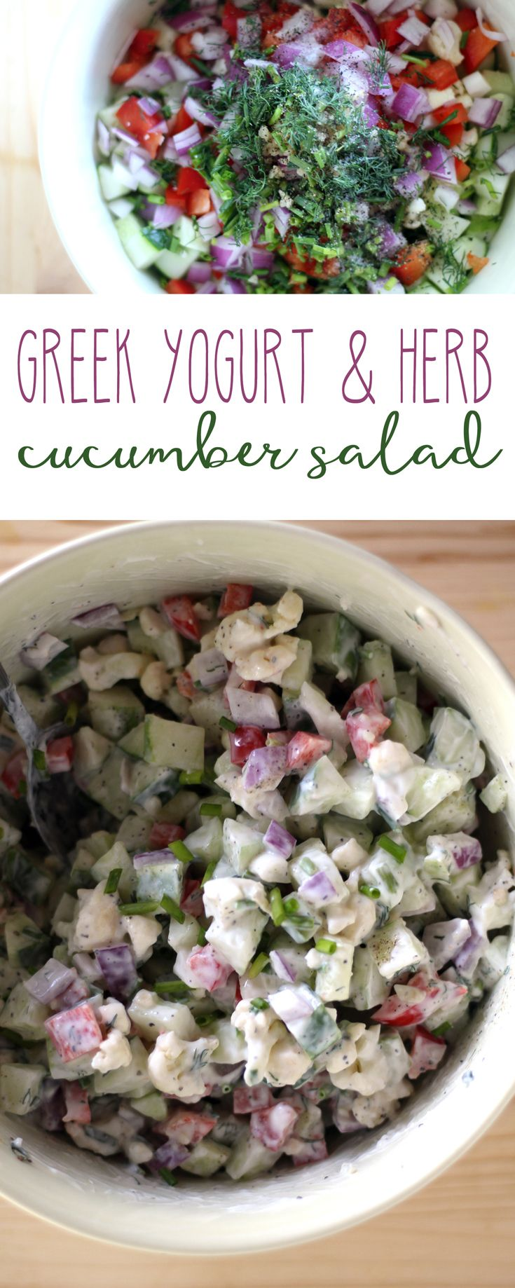 Creamy-crunchy bites of fresh cucumber and red onion with dill and chives. I'm voting this cucumber salad as THE healthy recipe of my summer. via @Buy This Cook That