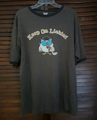 Mens Trau & Loevner Keep On Lickin Tootsie Roll Owl Lollipop Brown T-shirt Large