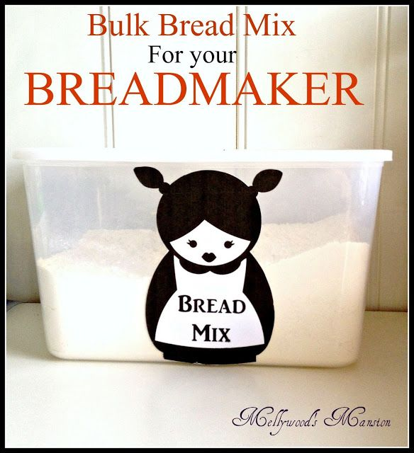 Bulk Bread Maker Mix - seriously the cheapest easiest way to make your own bread and the container is cute too