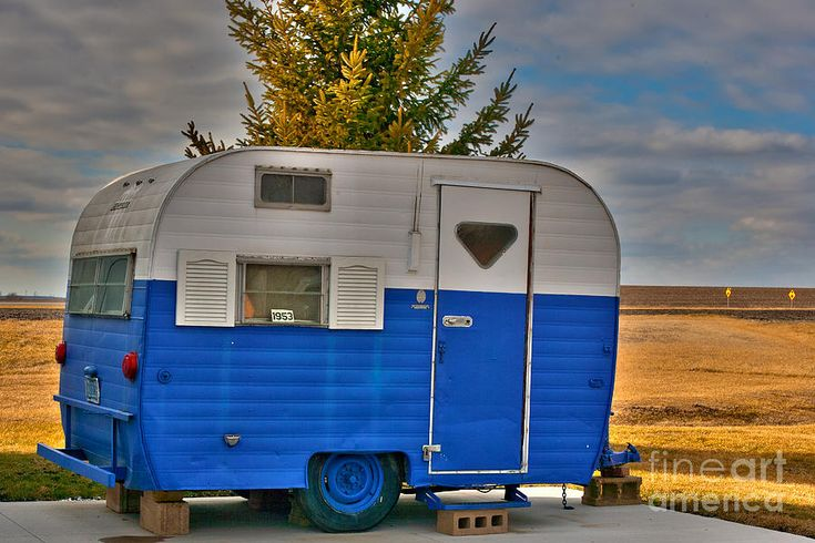 1953 Pull Behind Camper Photograph  - 1953 Pull Behind Camper Fine Art Print