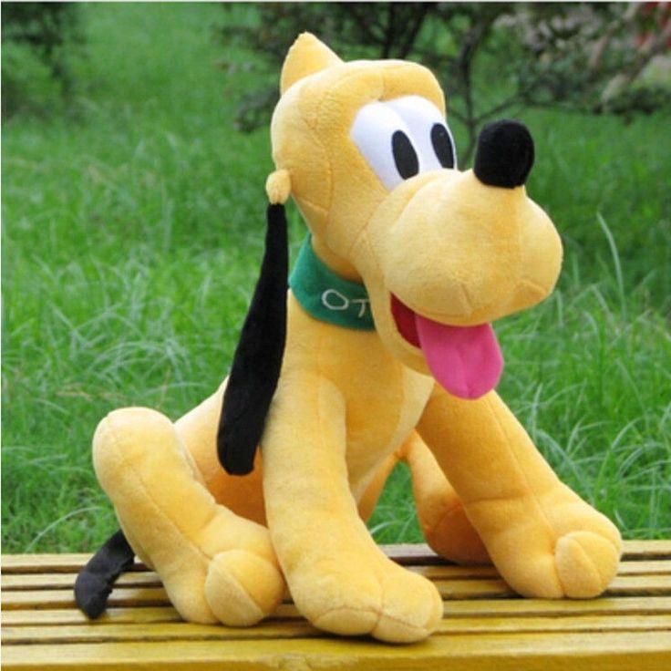 30cm Kawaii Pluto Plush Toys Goofy Dog Mickey Mouse Minnie Donald #Feromey