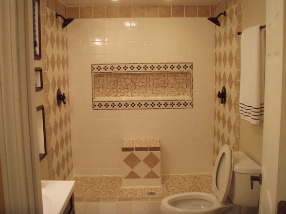 Bathroom Nice With Double Shower Head And Shampoo Soap