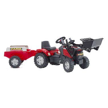 Tractor Case met aanhanger en voorlader  Deze stoere tractor heeft niet alleen een aanhanger maar ook nog eens een voorlader! Jij bent dus direct van de partij als er zand verplaatst moet worden. Prachtig buitenspeelgoed waar kinderen eindeloos speelplezier aan beleven.  EUR 83.99  Meer informatie