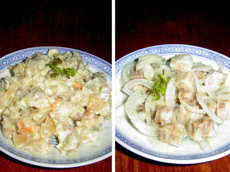 ČSN: Salát z rybího filé s majonézou a salát z tresky
