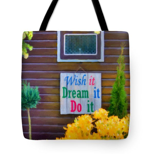 Tote Bags - Live The Dream Tote Bag by Nadia Sanowar