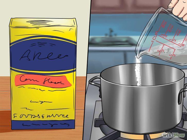)  Ingredientes para a massa de porcelana fria[4]      1 xícara (225 ml) de cola branca     1 xícara (125 g) de amido de milho     1 colher de sopa de suco de limão ou vinagre     1 colher de sopa de óleo de bebê