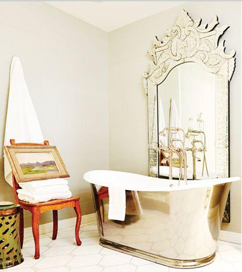 Mejores 154 im genes de decoraci n con espejos en - Decoracion con muebles antiguos ...
