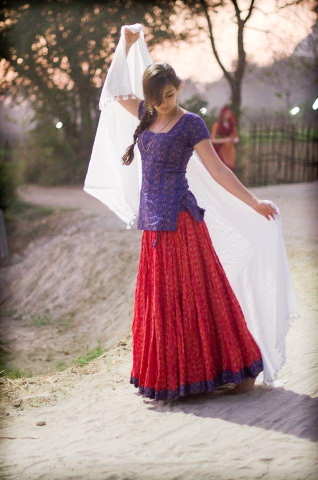 Ikat Gopi Skirt Outfit  Long top