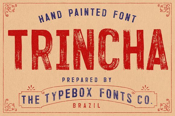 Trincha Typeface by Type Box on @creativemarket