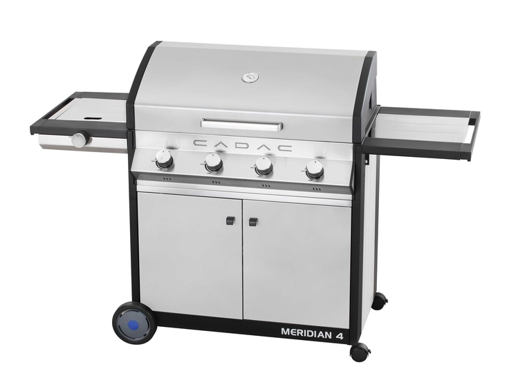 "CADAC Meridian - The Meridian range is an upmarket, European styled, superb quality range of gas BBQs that accommodate the ""modular system"" accessories thus allowing for a variety of cooking methods to be used with the BBQ."