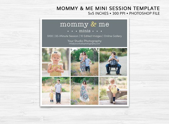 Mommy & Me Mini Session Template by Dotted Poppy Shop on @creativemarket