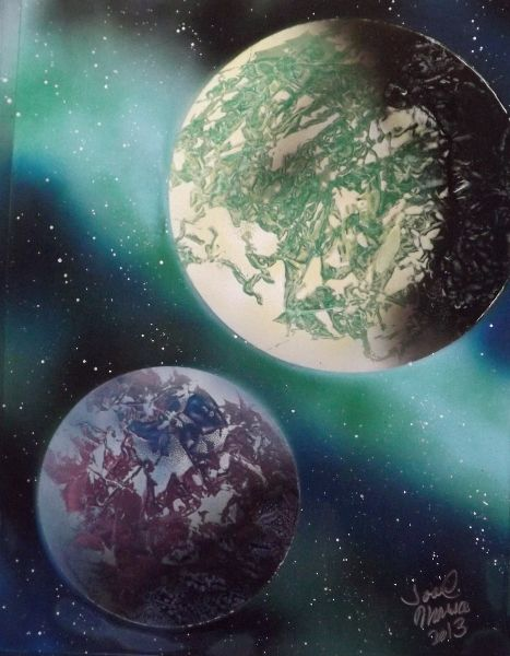 1000 images about space art on pinterest spray paint. Black Bedroom Furniture Sets. Home Design Ideas