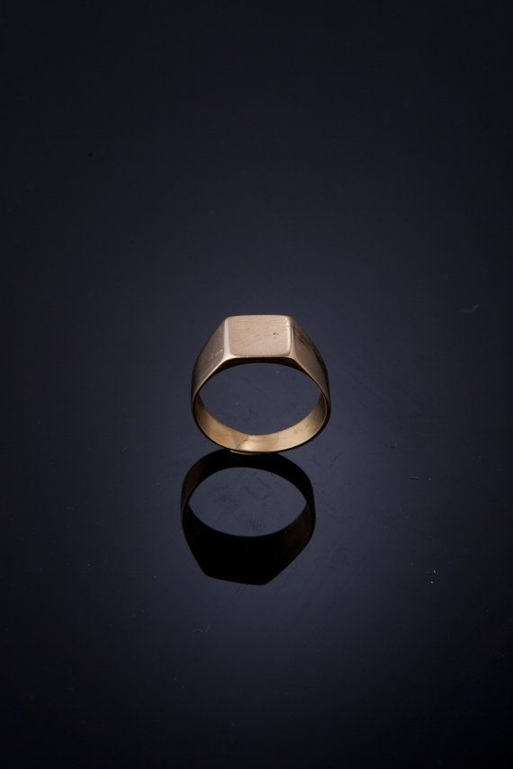 Classic signet ring, Unisex Square Signet Ring, goldplated 18k ring or, sterling silver ring, or brass signet ring, engagement ring