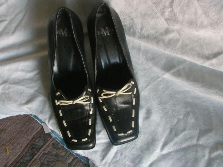 Vintage Damenschuhe  Milano M schwarz weiß von MajaSt auf DaWanda.com