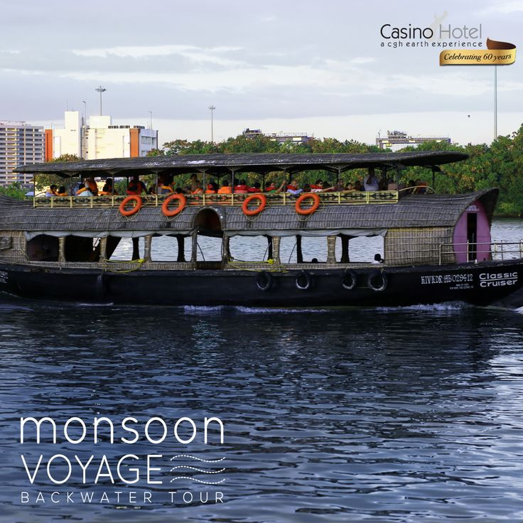 Monsoon Backwater cruise on a motorised country boat in Kochi.