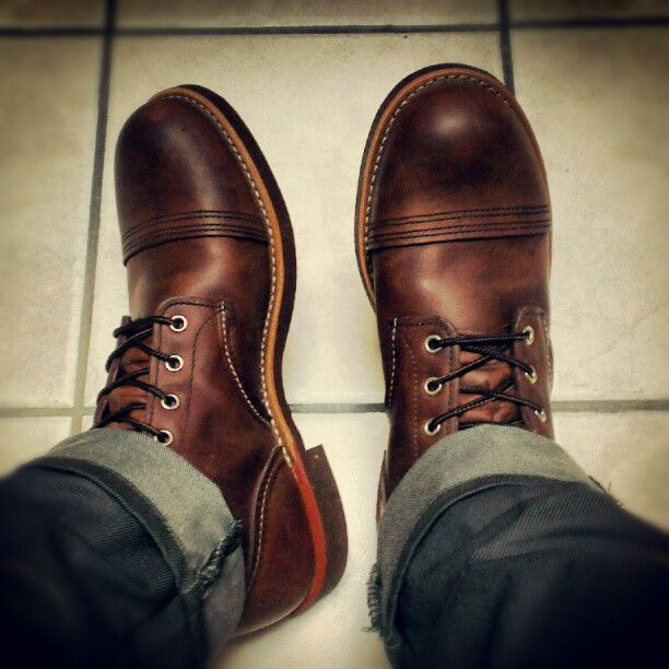 Red Wing Iron Ranger Style No: 8111. Color: Amber Harness Leather.