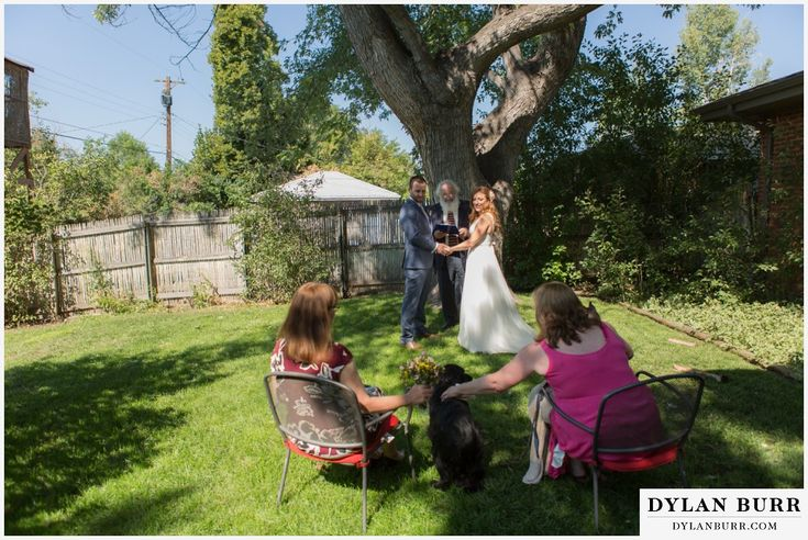 colorado wedding photographer denver backyard wedding ceremony