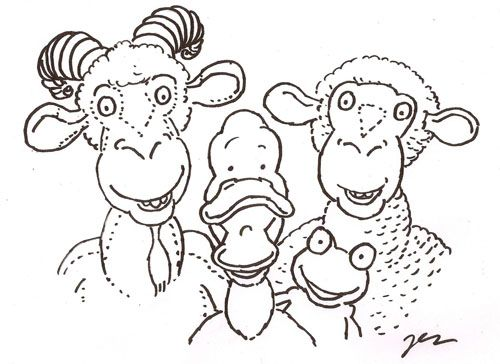 Awww my favorite characters from the book- Gobble Gobble