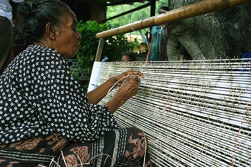Ndona Hand Weaving Traditional Village of Ende in Flores Indonesia