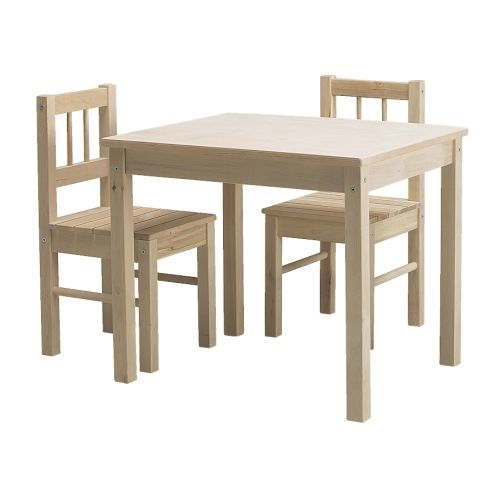IKEA Svala chairs and table- unfinished so you can paint them however you want!