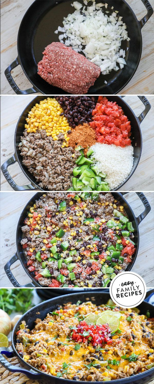 Favorite Taco Tues Dinner This Mexican Ground Beef And Rice Recipe Is Delish And So Easy Ground Beef Recipes Healthy Dinner With Ground Beef Beef Recipes Easy