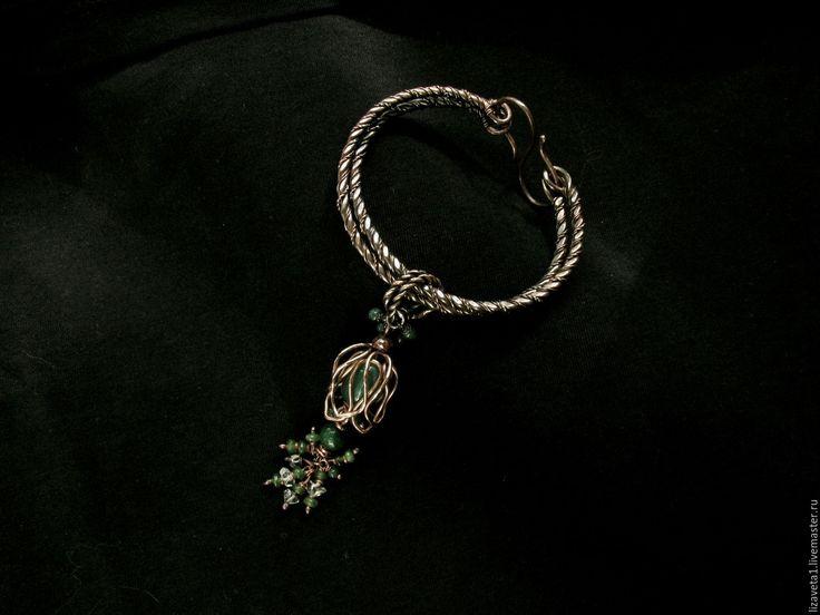 Купить Браслеты-кулоны Колокольчик браслет с аметистом,браслет с хризопразом - браслет с подвесками, колокольчик