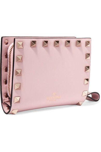 Valentino - The Rockstud Leather Wallet - Pastel pink - one size