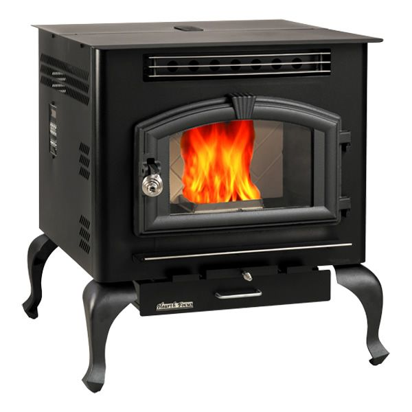 Multi fuel warm air stove with legs wood pellets