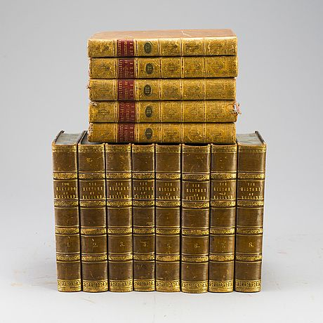 "BOK. 5+8 volymer. Hume, Smollett, ""The History of England"" 1700-talets slut."