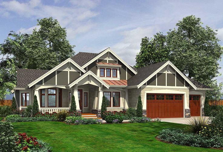 Plan 23382jd rambler with 3 car garage car garage for Craftsman house plans with bonus room