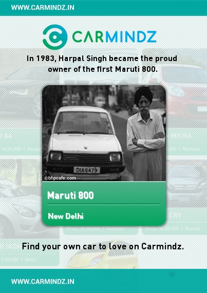"www.carmindz.in  ""And it is my desire that this motor car will serve the ordinary people of India and they will have no complaint about it. I hope it will contribute in every aspect of the nation building."" While delivering her speech to a packed auditorium at the launch of the Maruti 800, the late Prime Minister Indira Gandhi was speaking through tears.   Source: indiatoday.intoday.in"