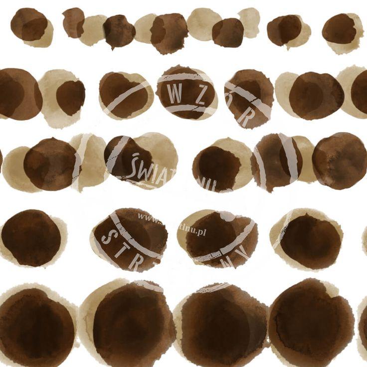Druk na tkaninach naturalnych: len, bawełna, wiskoza. Autorska kolekcja wzorów jedyna i niepowtarzalna. Zatop się w głębi kolorów. Pracownia Druku - drukujemy również na Twoich tkaninach.  #pracowniadruku #tkaniny #wzory   Wzór Ślady Zwierząt  ANIMAL FOOTPRINTS painted brown